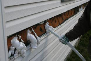 exterior injection foam insulation